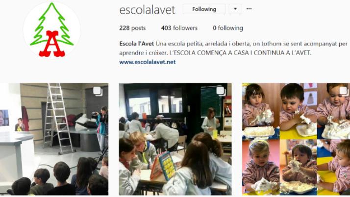 Les xarxes socials de l'escola.