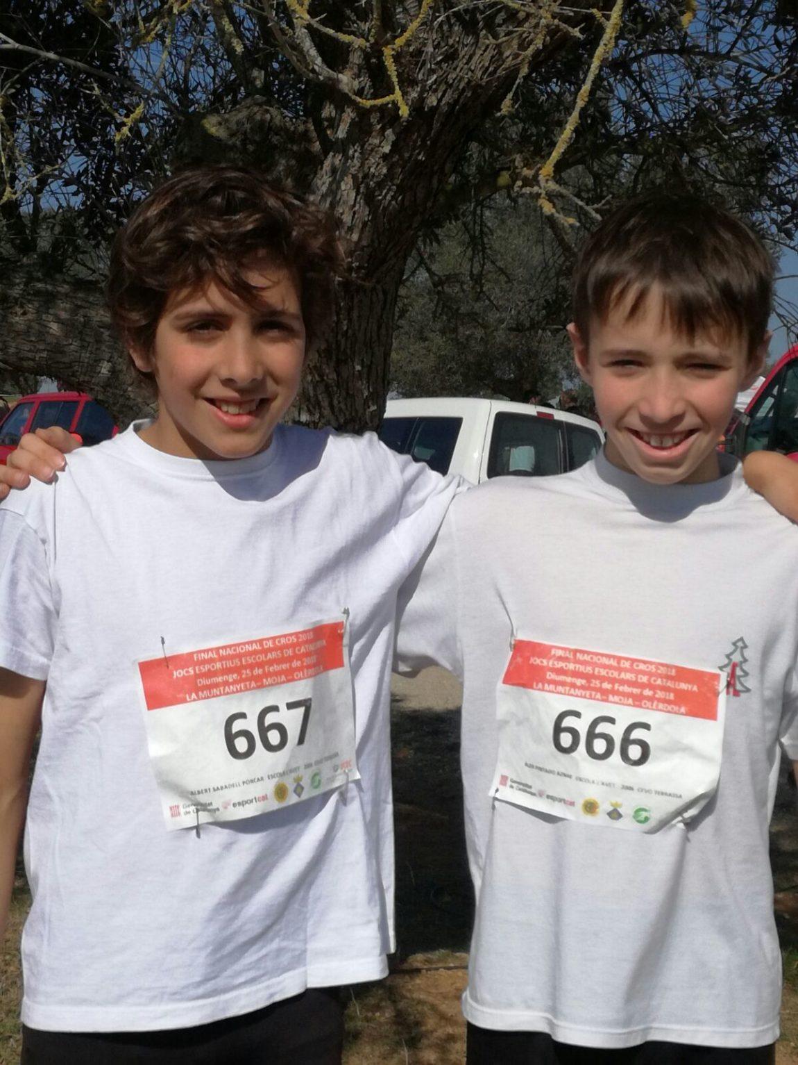 Campionat de Catalunya cross escolar.
