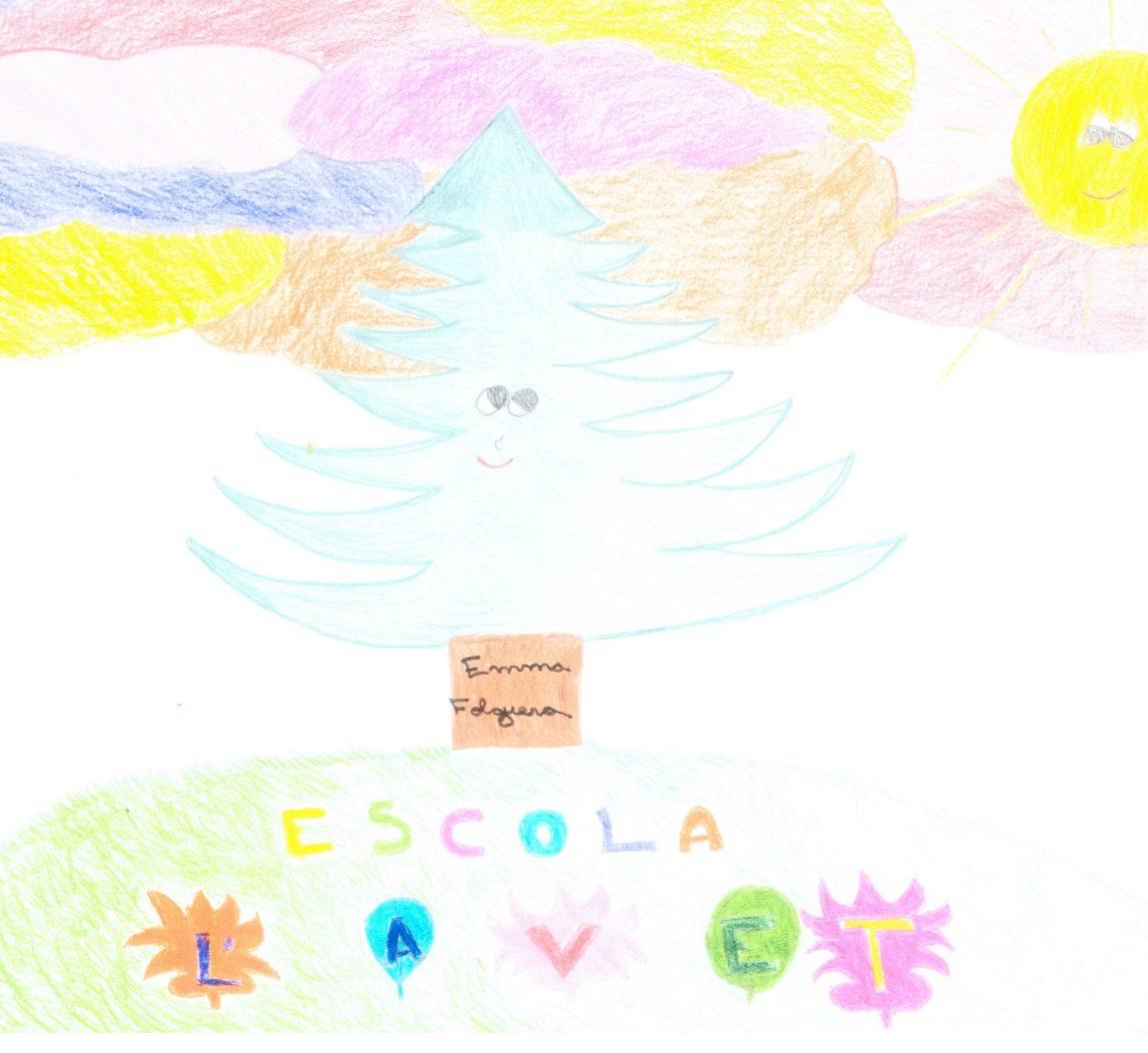 Portada mes de juny dibuix d'Emma Folguera, 5è.