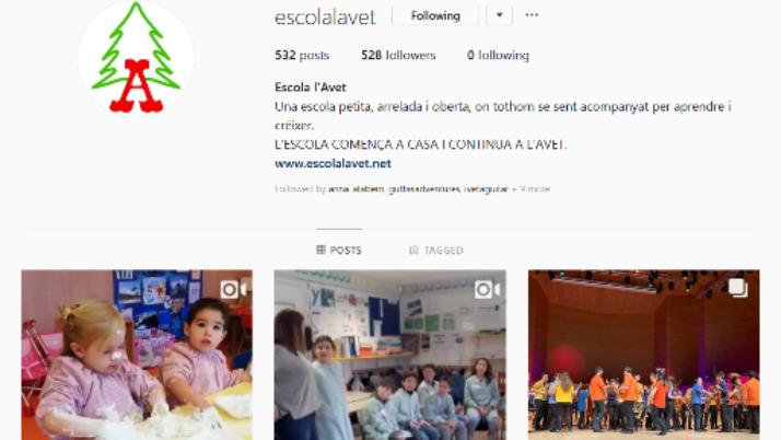 Fotos i vídeos de les activitats a l'escola.