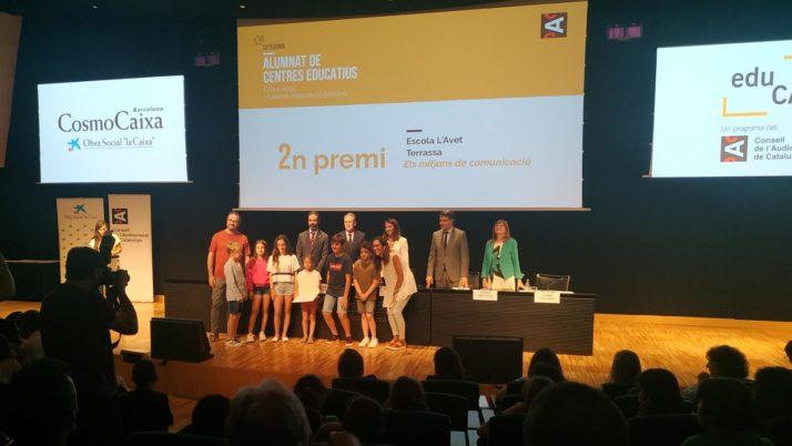 El Consell Audiovisual de Catalunya premia l'escola L'Avet de Terrassa