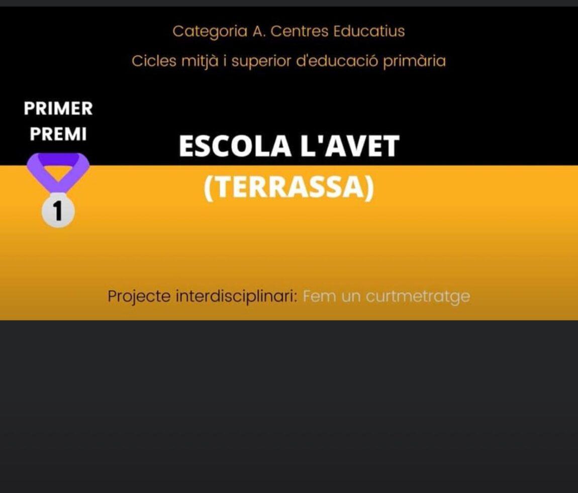 XVII Premis el CAC a l'escola: 1r premi