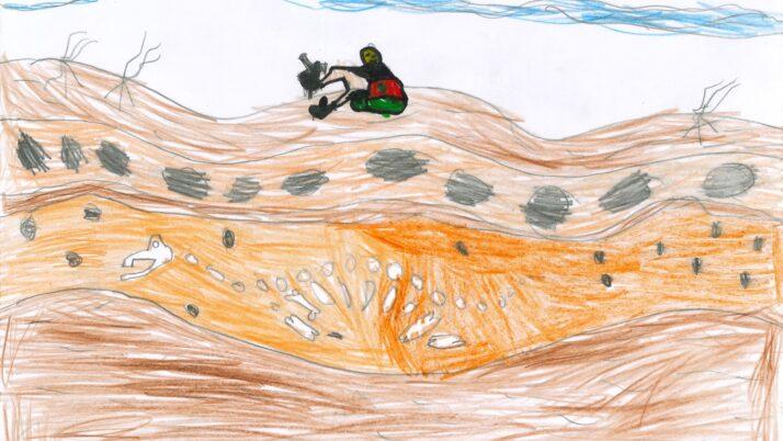 Dibuix de Jan Farràs, de 2n: